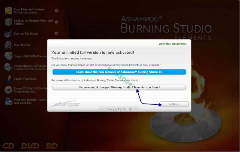 Téléchargez : Ashampoo Burning Studio 10 Éléments avec clef gratuitement 01-04-18