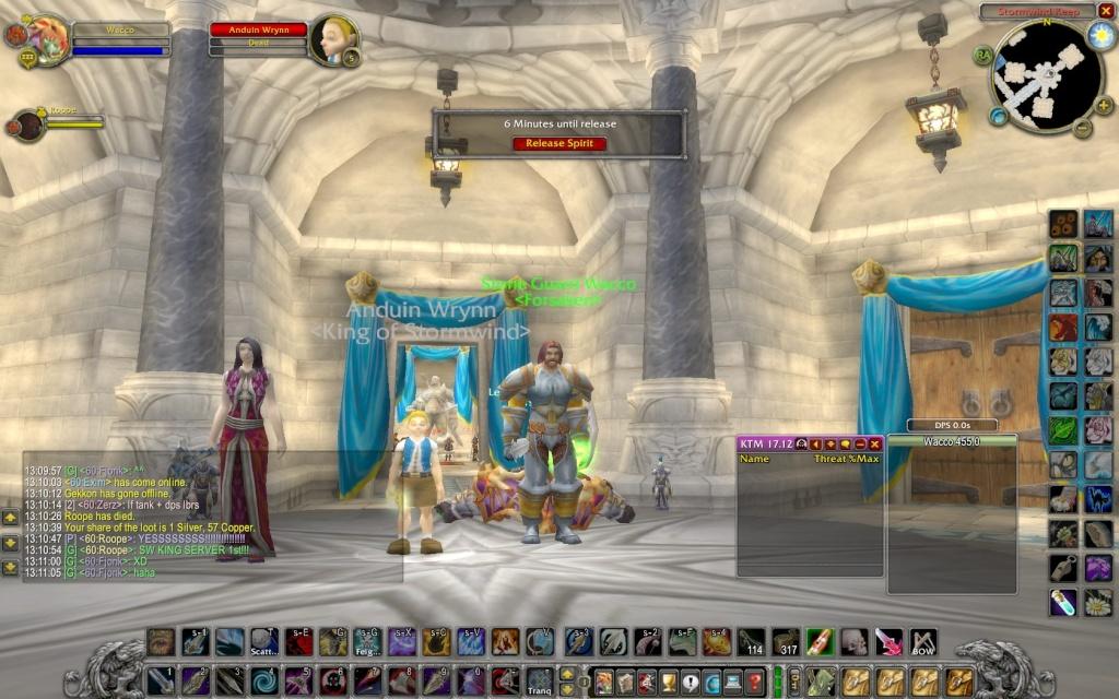 Stormwind King server first! Wowscr12