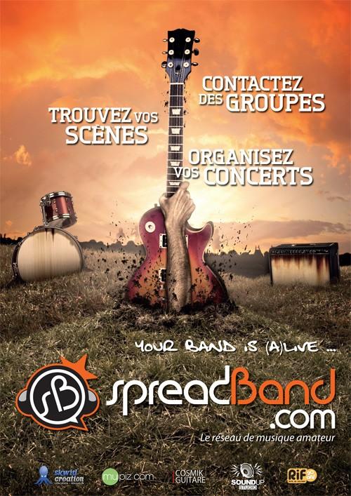 SpreadBand.com, sortie officielle de la bêta. Plate-forme de booking pour musiciens  amateurs ! Spread13