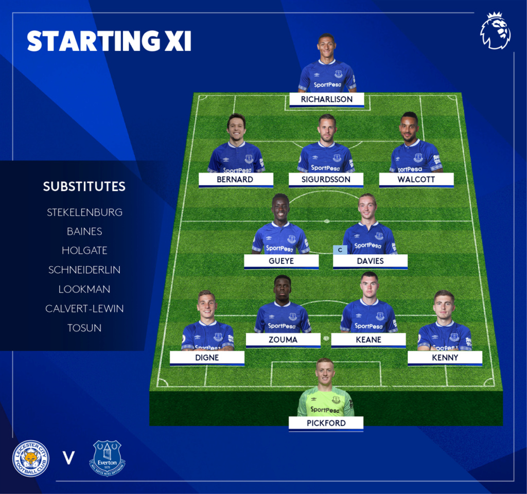 Leicester City 1 v Everton 2 (Richarlison, Sigurdsson) Do06v710