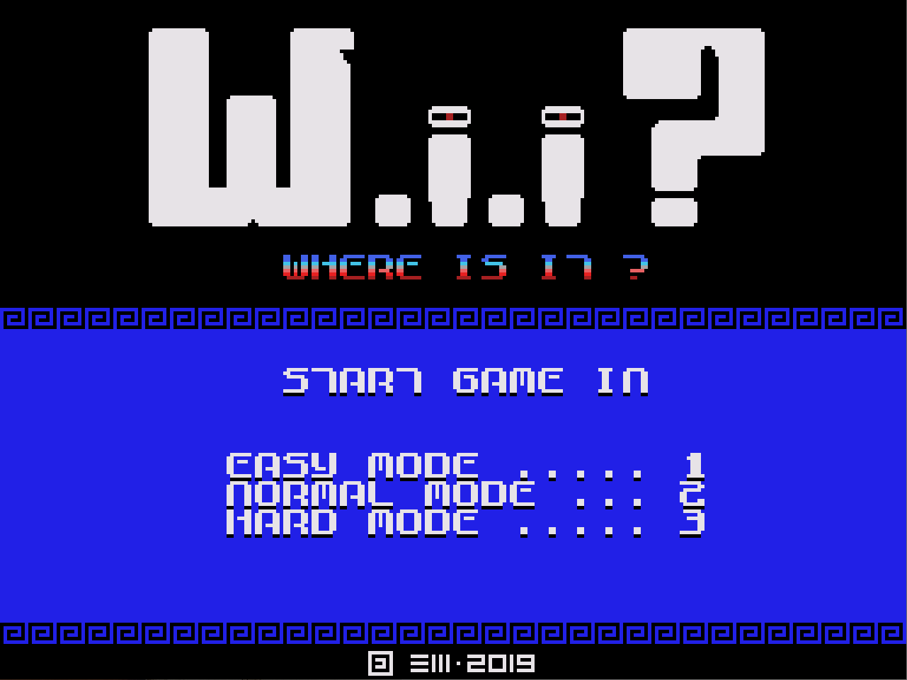 [WIP] - Colecovision - WIP012 -  Where Is It ? (Wii ?) Wii210