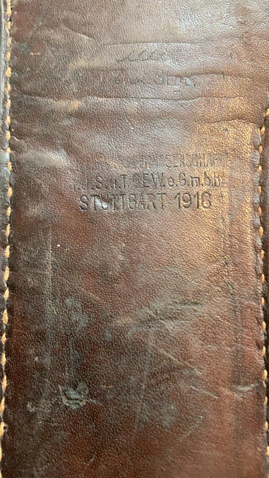 Identification marquages étui cuir E867e510