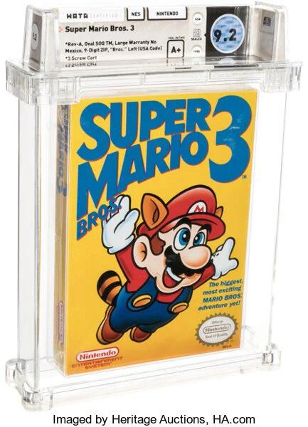 Record de vente pour un jeu vidéo: Super Mario Bros à 100150$ Mario310