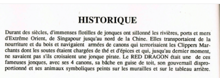 "Jonque "" Le Dragon ROuge "" Histor10"