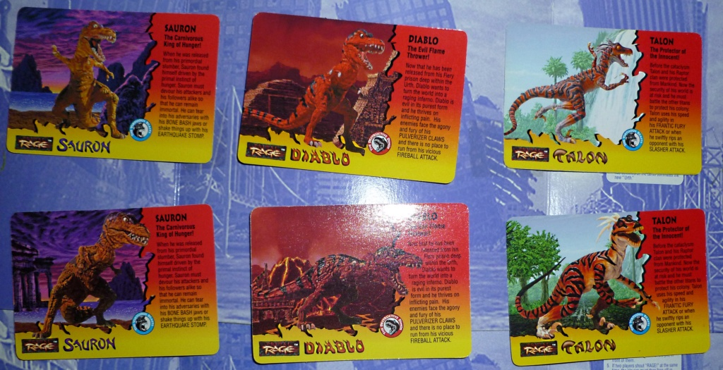 My Video Game Figures & Strategy Guides: Super Godzilla & Predator Games! Cards_17