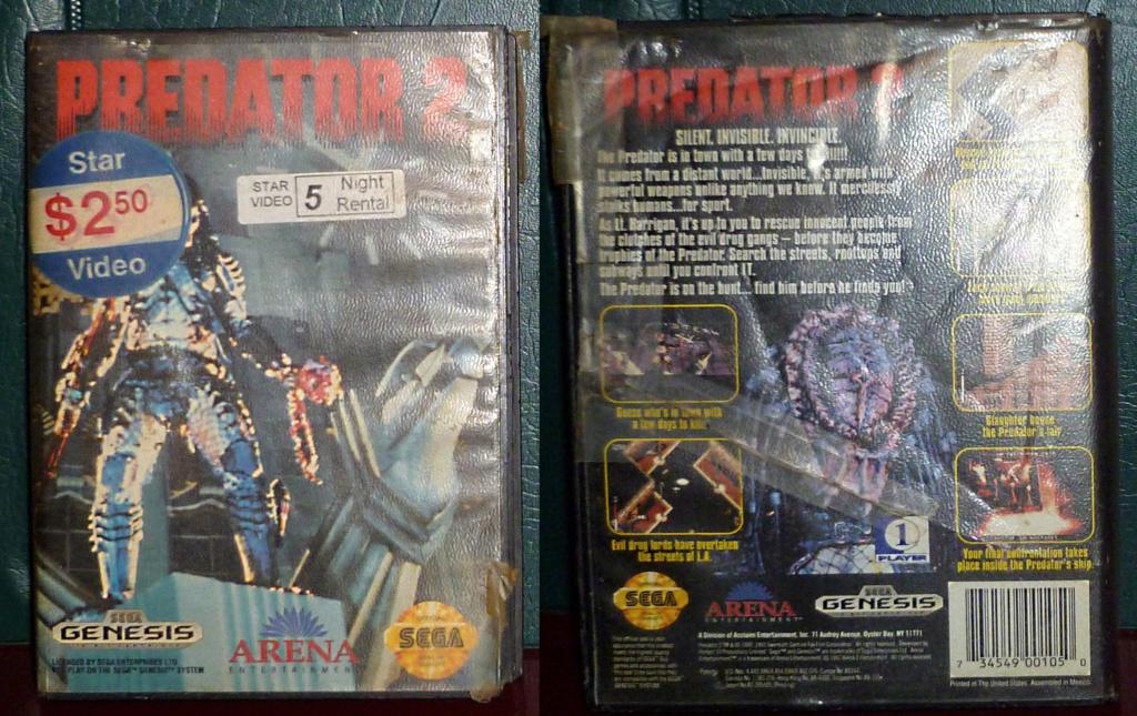 My Video Game Figures & Strategy Guides: Super Godzilla & Predator Games! Predat10