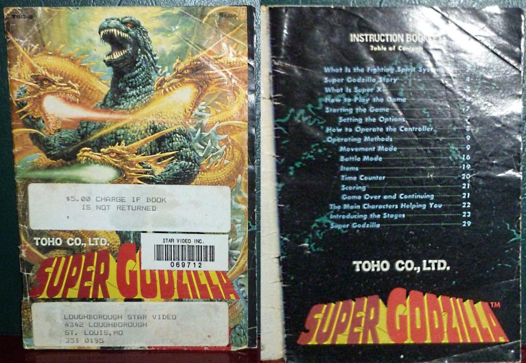 My Video Game Figures & Strategy Guides: Super Godzilla & Predator Games! Super_15