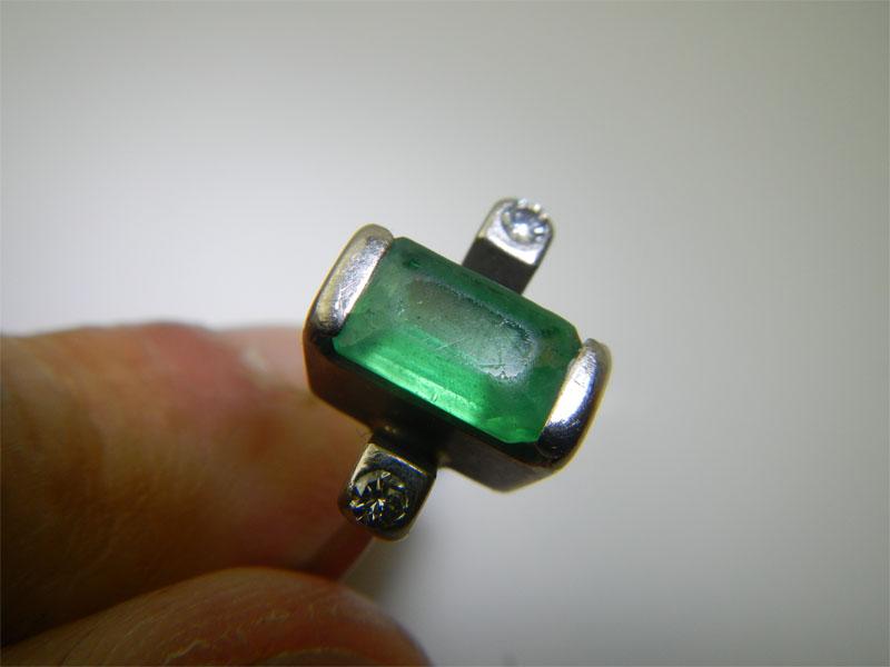 refaire une griffe sur une bague or gris + diamants Emerau10