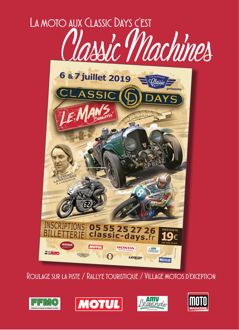 Classic machine au classic days circuit Bugatti au Mans  2la6q110