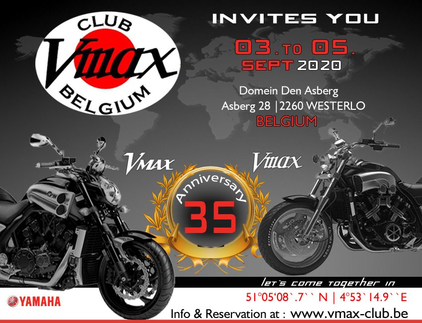 Vmax 35th Anniversary in Belgium 3-5 sept 2020 Belgiu10