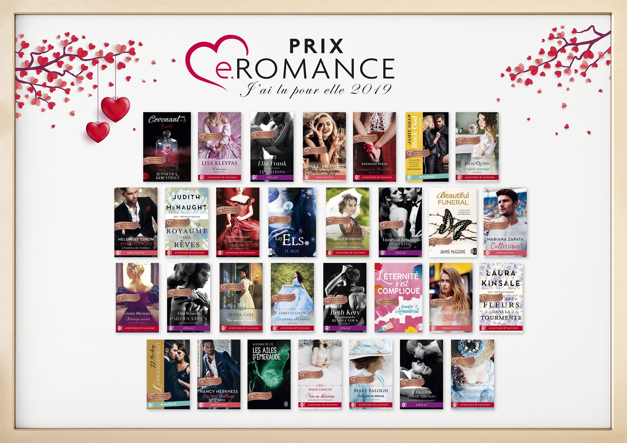 prix - Prix e.Romance J'ai Lu Pour Elle 2019 Affich10