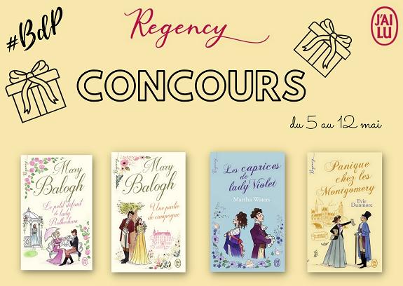 Concours Regency : Tentez de remporter les 4 romans de cette nouvelle collection ! {du 5 au 12 mai sur BdP} Concou11