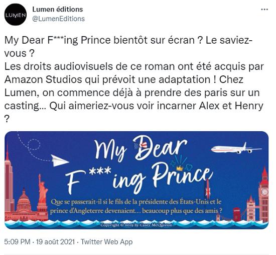 My dear f***ing prince de Casey McQuiston Sans_t29