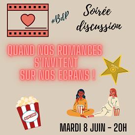 Soirée discussion n°9 {mardi 8 juin} : Quand nos romances s'invitent sur nos écrans !  Widget18
