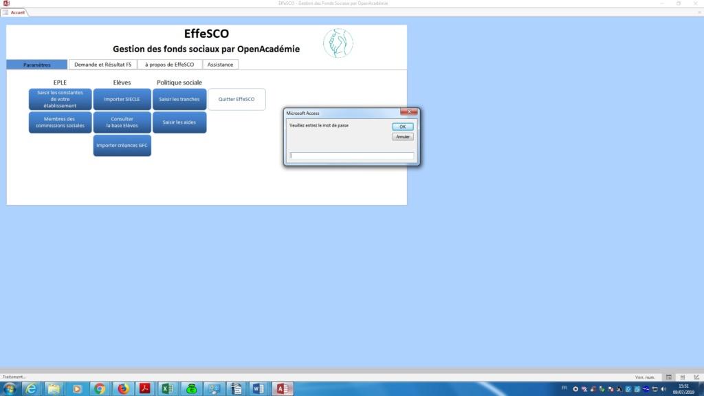 Le prochain logiciel OpenAcadémie : EffeSCO vous débarrasse du fonds social Effesc11