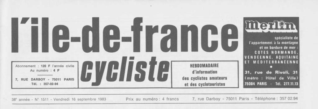 Coureurs et Clubs de septembre 1983 à .......... 0_00123