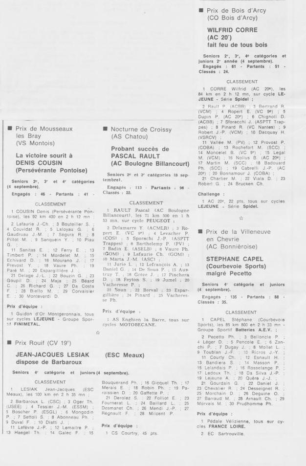 Coureurs et Clubs de septembre 1983 à .......... 0_00726