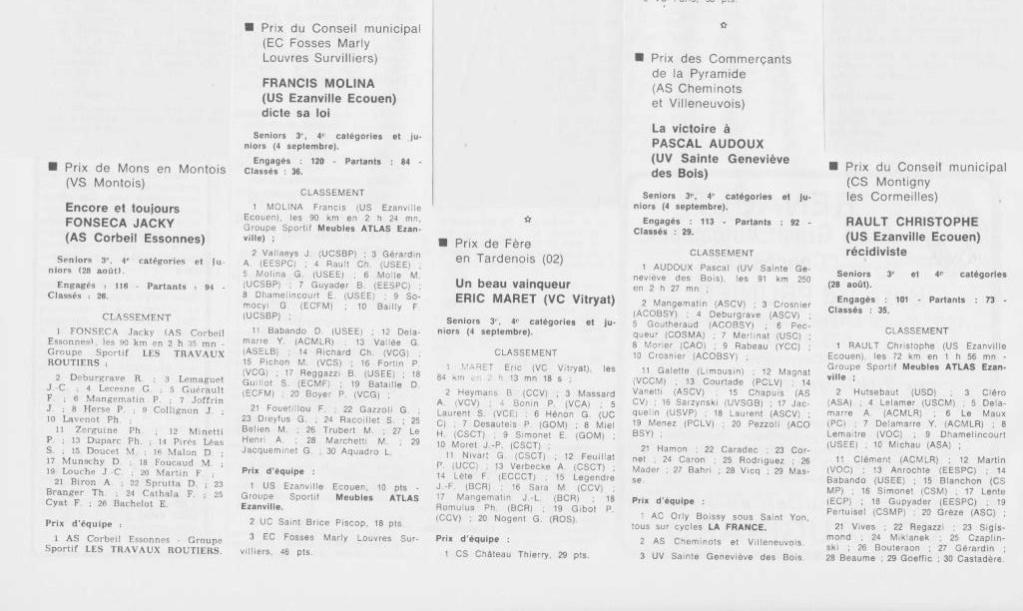 Coureurs et Clubs de septembre 1983 à .......... 0_01224