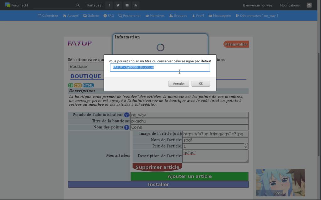 Problème avec fa7up Screen10