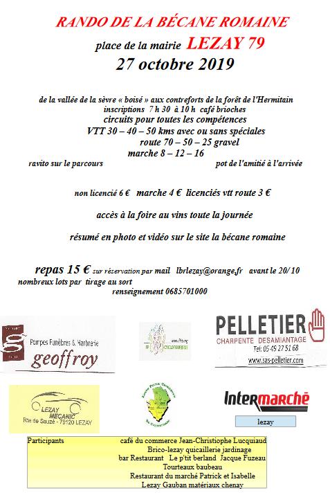 LEZAY (79) - La Romaine - dimanche 27 octobre 2019 Captur11