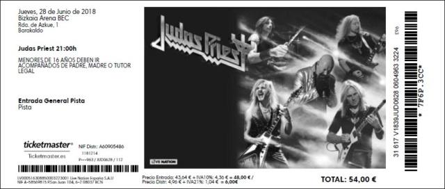Judas Priest + Lords Of Black - Barakaldo (Sala Cubec BEC), le 28.06.2018 Billet10