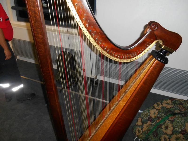 Présentation de la harpe triple galloise 11-08-14