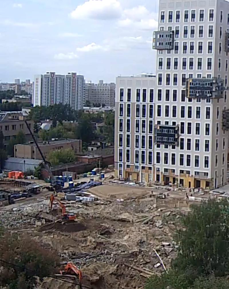 Строительство 1 корпуса 2111