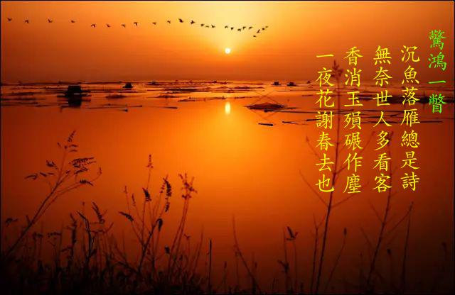 驚鴻一瞥(七絕) Jingho10