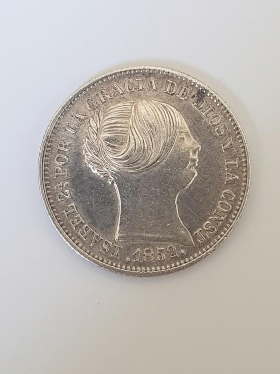 1 real 1852. Isabel II. Madrid 20200510