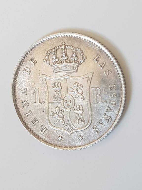 1 real 1852. Isabel II. Madrid 20200512