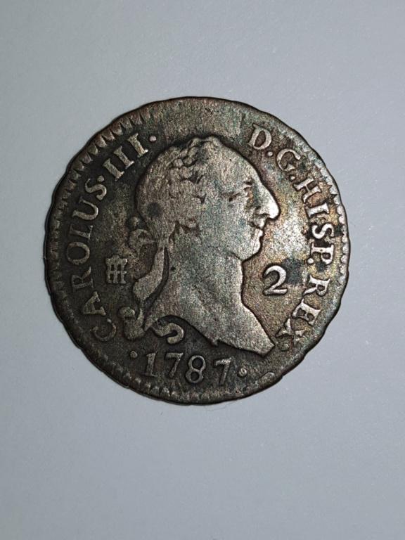 Carolus III: 2 maravedis 1787  Aaaa11