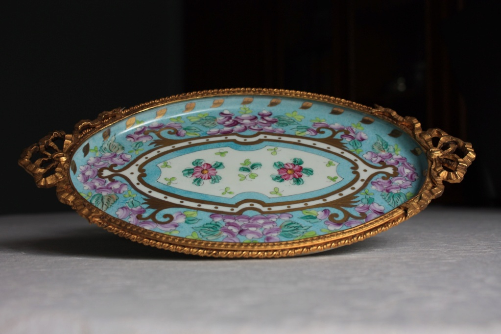 Sevres style porcelain tray Pic113