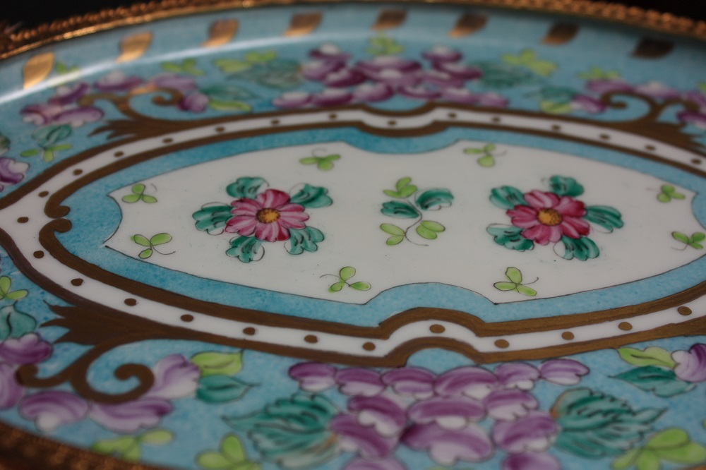 Sevres style porcelain tray Pic213