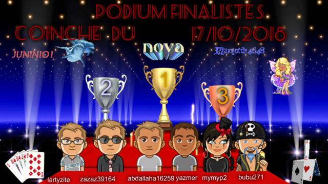 trophees coinche 17/10/2018 Podium13