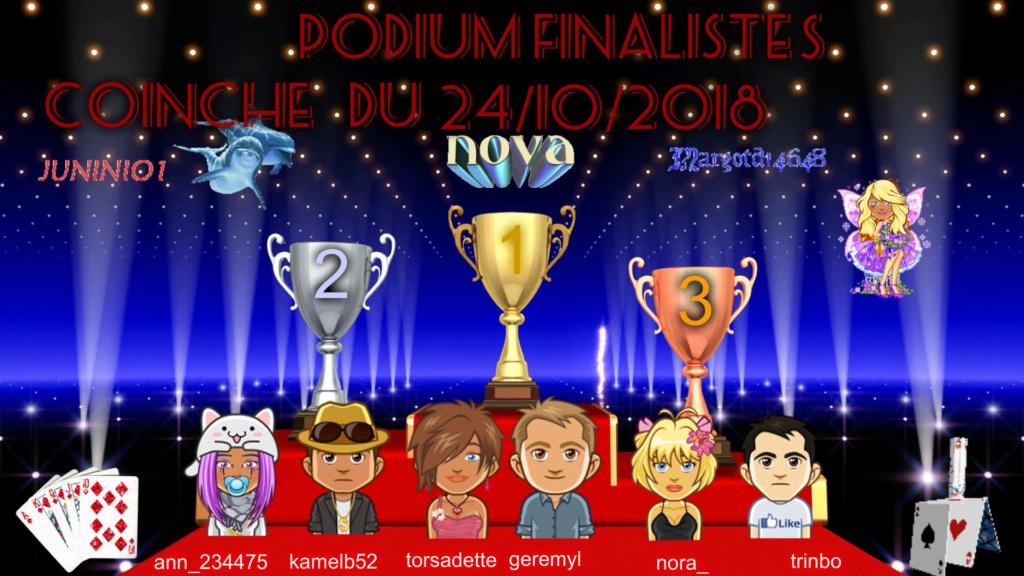 Trophée Coinche du 24/10/18 Podium15