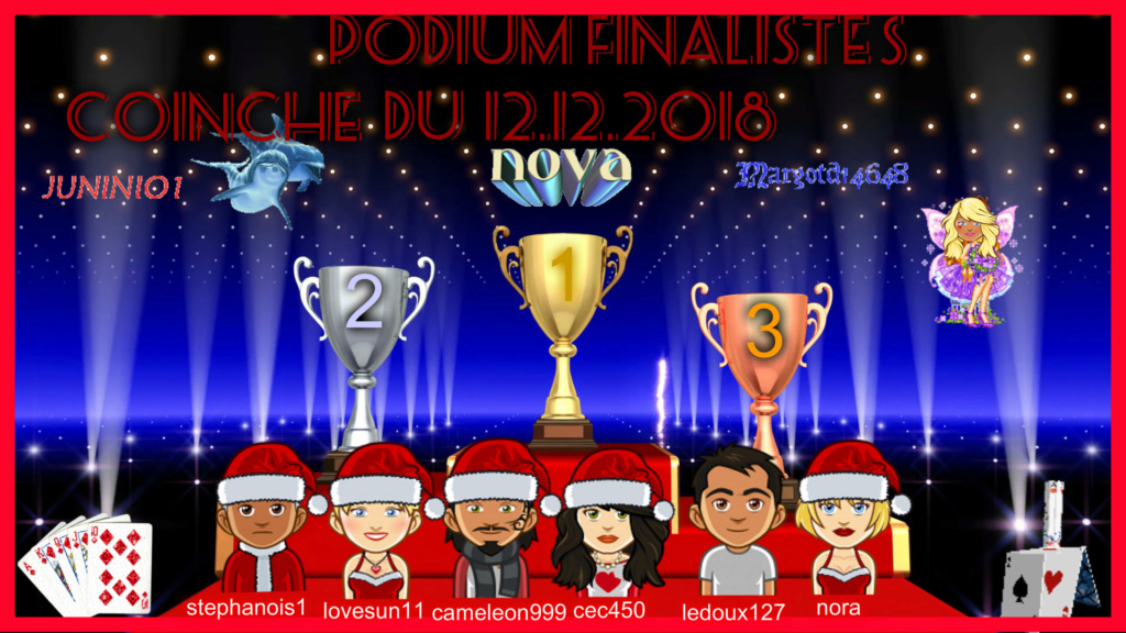 trophees coinche du 12/12/2018 Podium25