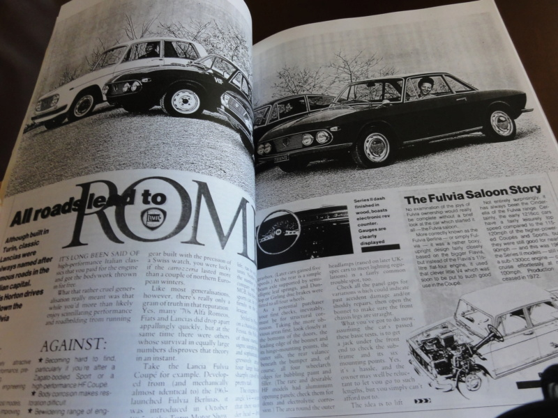 [Vendo-MI] Lancia Fulvia Saloon e Coupe' - roadtest articles adverts Fulvia15