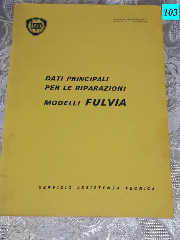 [VENDUTO - MI] MANUALE: DATI PRINCIPALI PER LE RIPARAZIONI MODELLI LANCIA FULVIA Img_2012