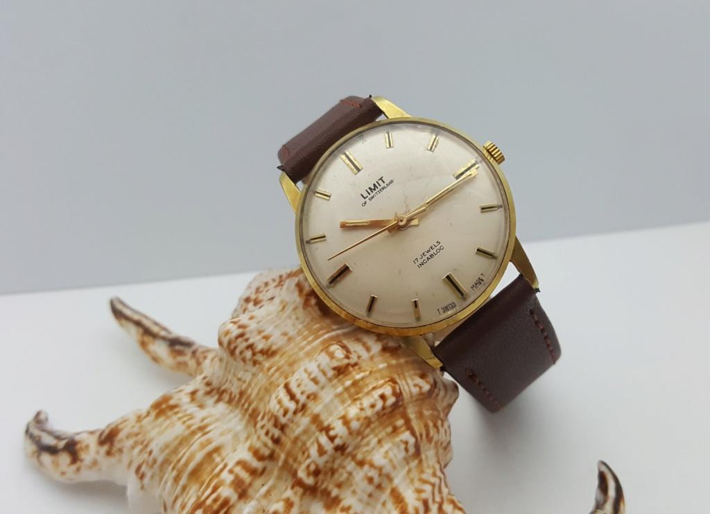 [Vendido] Relógio Vintage Limit - (FHF 97 - 17J) - c/ 34mm - Gold Plated G10 00013
