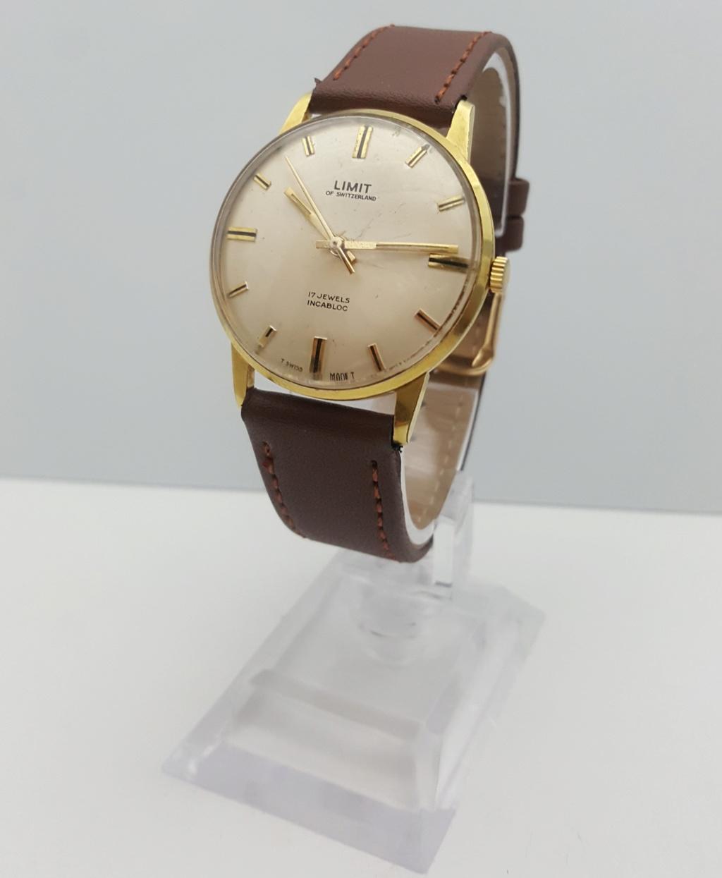 [Vendido] Relógio Vintage Limit - (FHF 97 - 17J) - c/ 34mm - Gold Plated G10 0120