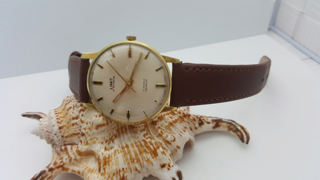 [Vendido] Relógio Vintage Limit - (FHF 97 - 17J) - c/ 34mm - Gold Plated G10 0320