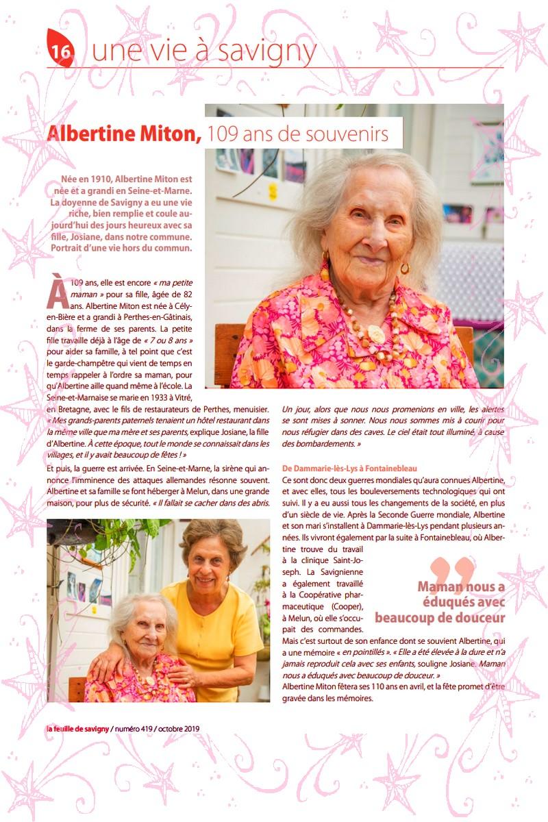 Preuves de vie récentes sur les personnes de 109 ans Albert11