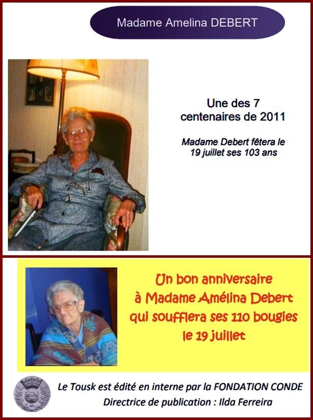 Preuves de vie sur les personnes de 110 ans et plus Amelin11