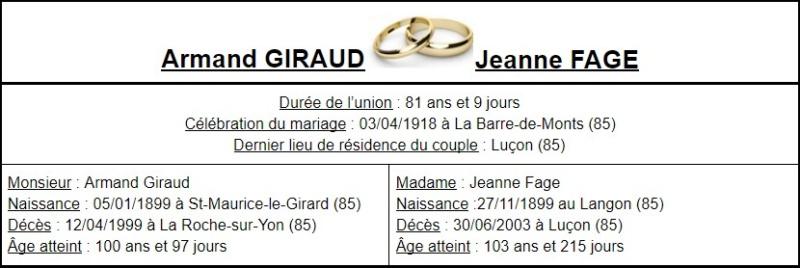 E- LES PLUS LONGS MARIAGES FRANÇAIS - Page 2 Couple25