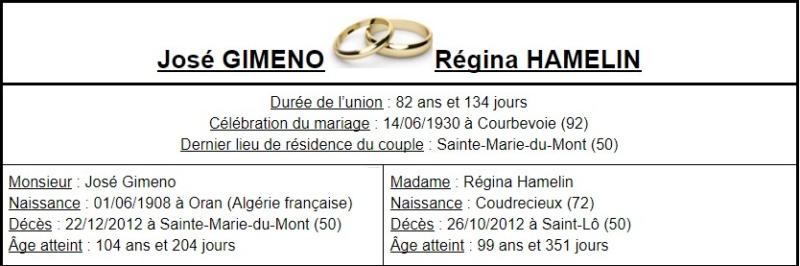 E- LES PLUS LONGS MARIAGES FRANÇAIS - Page 2 Couple26