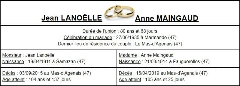 E- LES PLUS LONGS MARIAGES FRANÇAIS - Page 2 Couple34