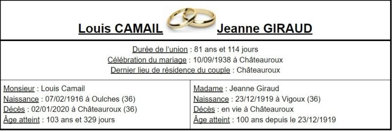 E- LES PLUS LONGS MARIAGES FRANÇAIS - Page 2 Couple39