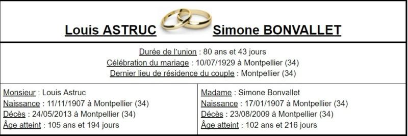 E- LES PLUS LONGS MARIAGES FRANÇAIS - Page 2 Couple42