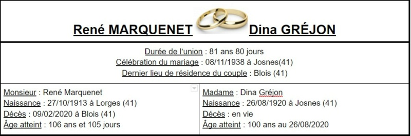 E- LES PLUS LONGS MARIAGES FRANÇAIS - Page 2 Couple45
