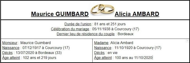 E- LES PLUS LONGS MARIAGES FRANÇAIS Couple46